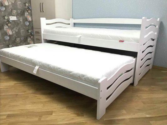Ліжко біле Мальва від виробника Дрімка