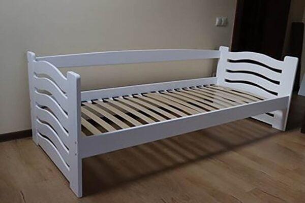 Біле ліжко для дітей Міккі Маус