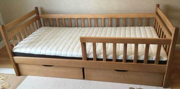 Ліжко для дітей Моллі Буратіно з бортом та шухлядами
