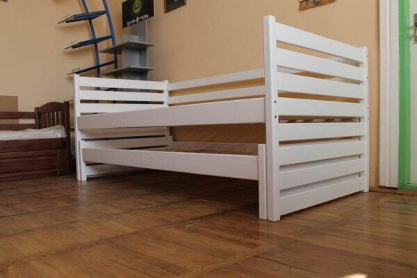 Ліжко з виїзним спальним місцем біле Сімба купити