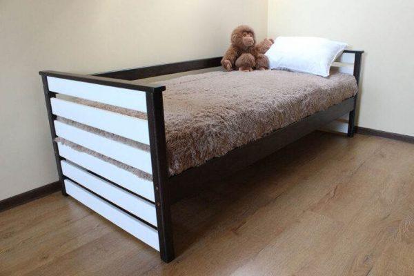 Дитяче ліжко Телесик білий з чорним