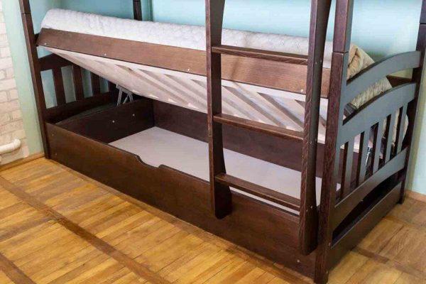 Двоповерхове ліжко з підйомним механізмом Бембі