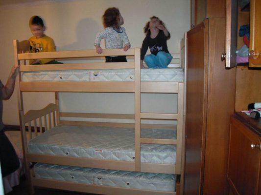 Ліжко для трьох дітей Мауглі фабрика Дрімка
