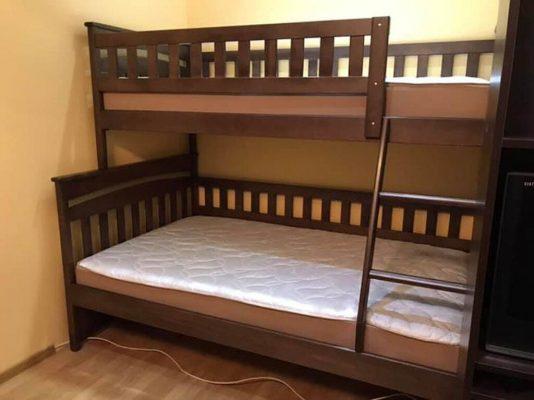 Семейная кровать Русалочка березовый купить