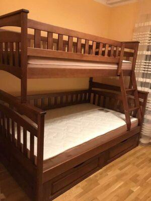 Семейная кровать Русалочка массив дерева
